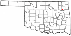 Location of Chouteau, Oklahoma
