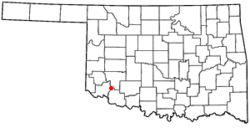 Location of Headrick, Oklahoma