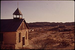 Terlingua, Texas - Old Church in Terlingua, 1973