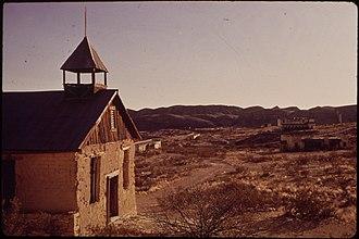 Terlingua, Texas - Old Church in Terlingua, 1973