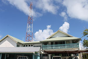 Funafuti - Offices of the Tuvalu Telecommunications Corporation