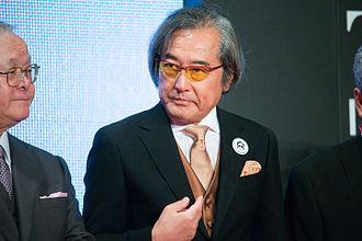 "Kunio Okawara - Image: Okawara Kunio ""The World of Gundam"" at Opening Ceremony of the 28th Tokyo International Film Festival (22431137765)"