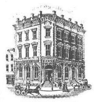 First National Bank Building (Davenport, Iowa) - The original First National Bank