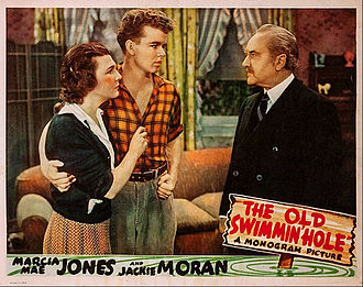 Jackie Moran - Moran at center in The Old Swimmin' Hole, 1940