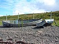 Old fishing boats below derelict croft at Badenscallie - geograph.org.uk - 298128.jpg