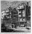 Old houses formerly standing in Butcher's Row, about 1800. Wellcome L0004094.jpg