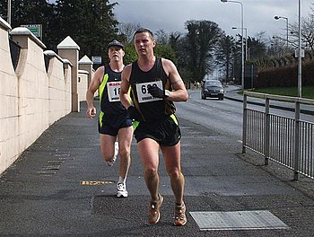 English: Omagh Half Marathon (2) The runners a...