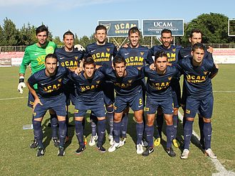 UCAM Murcia CF - A starting lineup in the 2013–14 season, that promoted to Segunda División B