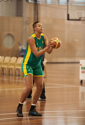 Liz Cambage - Liz Cambage at the Opals' training camp in Canberra, May 2012