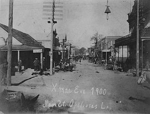 Opelousas, Louisiana - Main Street, Opelousas, 24 December 1900
