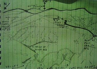 Operation Red Wings - A map of the area and plan relating to Operation Red Wings