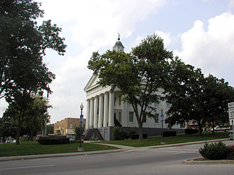Orange County, Indiana - The Orange County Courthouse in the center of the Paoli, Indiana town square