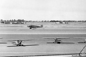 Orange County Airport runway, circa 1950s.jpg