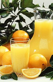 Oranges and orange juice.