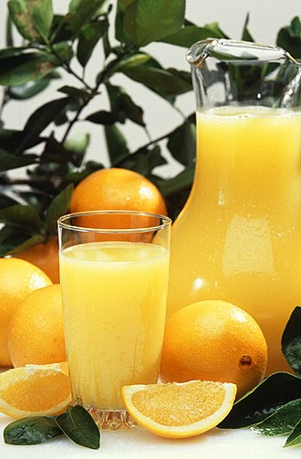 Drink mixer - Orange juice.