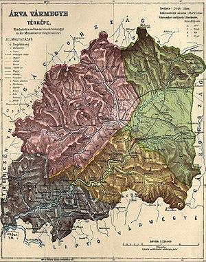 Árva County - Image: Orava (mapa)