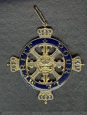 Pour le Mérite - Image: Orden Pour le Merite Vredesklasse