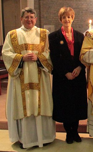 Keith Newton (prelate) - Keith Newton and his wife Gill after Newton's ordination as a Catholic deacon