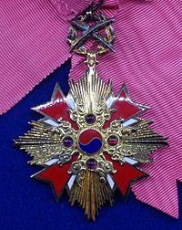 Order of Diplomatic Service Merit grand gwanghwa 1st class badge (South Korea) - Tallinn Museum of Orders.jpg