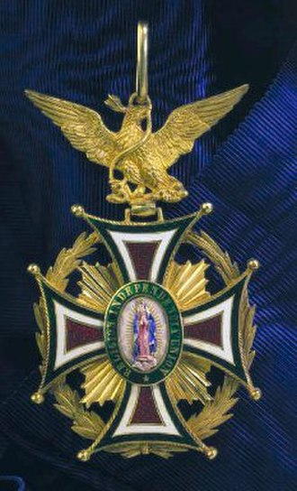 "Mexican Imperial Orders - Cross of ""National Order of Our Lady of Guadalupe"""