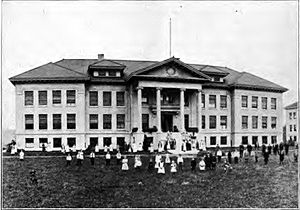 Oregon School for the Deaf - Main building and school building, 1912