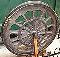 "Original drive wheel from the Camden & Amboy Railroad ""John Bull"" steam locomotive (27109683933).jpg"