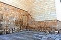 Original stone blocks of one of the walls of the Memorial Church of Moses, Mount Nebo, Jordan.jpg