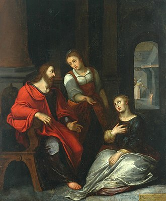 Otto van Veen - Christ in the House of Martha and Mary, c. 1597