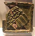 Ottoman stove-tiles from vizivaros 1370s IMG 0435 coat of arms hungarian-angevin.JPG