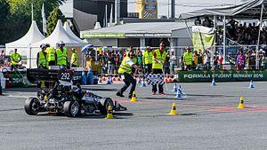 Formula Student - Oxford Brookes Racing finishing endurance at Formula Student Germany 2016