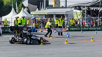 Formula Student - Oxford Brookes Racing finishing endurance at Formula Student Germany 2016