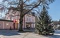 Pörtschach Hauptstraße 153 Gemeindeamt mit Weihnachtsbaum 08122016 5540.jpg
