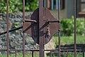 Pörtschach Kirchweg Pfarrgarten Gartentor Türdrücker 12082015 1361.jpg