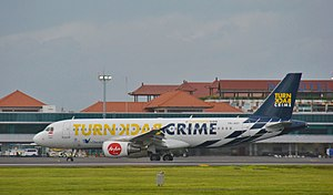 Indonesia AirAsia - An Indonesia AirAsia Airbus A320-200 in Turn Back Crime Livery