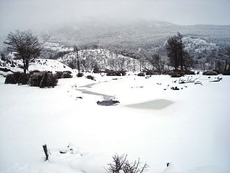 Climate of Argentina - Tierra del Fuego National Park during winter