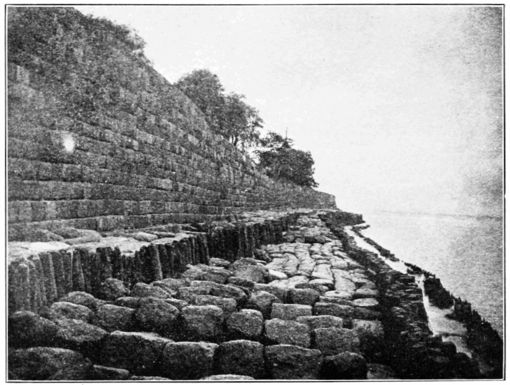 PSM V72 D232 The sea wall at haining at low water level.png