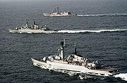 Pakistan Navy ships taking part in Operation Inspired Siren