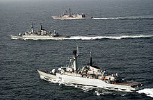 USS Rueben James along with Pakistan Navy Ship (PNS) Shahjahan and PNS Tippi Sultan are currently participating in Exercise Inspired Siren 2002.
