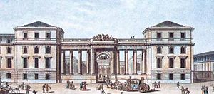 Palais Bourbon - The neoclassical portal added by the Prince de Condé