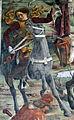Palazzo schifanoia, salone dei mesi, 03 marzo (f. del cossa), borso alla caccia e amministrat. di giustizia 08 cavaliere.jpg