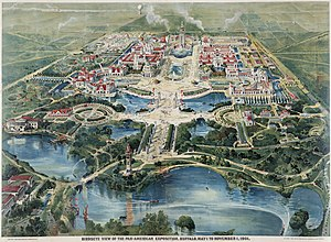 Pan-American Exposition - Aerial view print of Pan-American Exposition, 1901