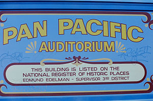 Pan-Pacific Auditorium - Pan Pacific Auditorium Sign