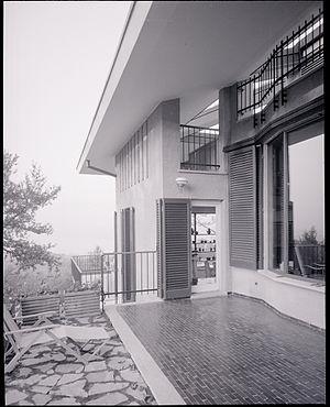 Ernesto Nathan Rogers - Varese. Villa designed by architect Ernesto Nathan Rogers. Paolo Monti photographer.