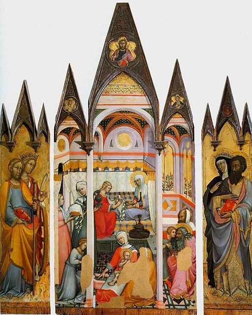 Paolo di Giovanni Fei, Nascita della Vergine (1381), Pinacoteca, Siena