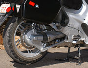 BMW's Paralever rear suspension on an R1150RT.