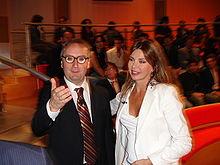 Alba Parietti con Franco Grillini nel 2005