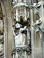 Parnes (60), église Saint-Josse, statuettes du portail 4.jpg