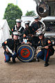 Parris Island Marine Band pose with Flat Stanley.jpg