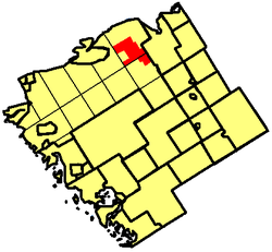 Location of Restoule Local Services Board in Parry Sound District
