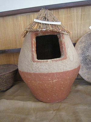 Botswana art - Part of the collection at the Phuthadikabo Museum, Botswana